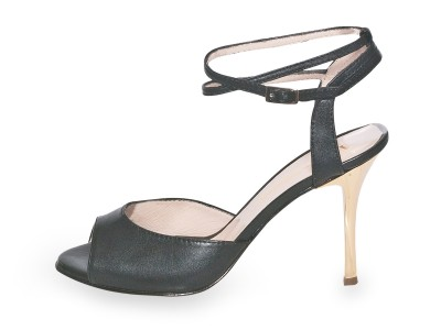 Iris Double Strap Black Nappa Leather