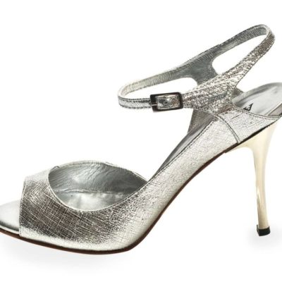 Luna Silver Saffiano Leather
