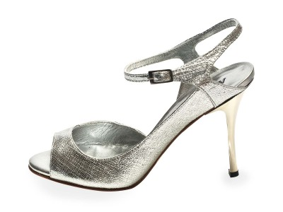 Luna Silver Saffiano Leather