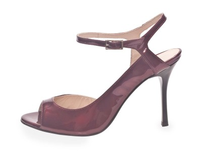 Luna Bordeaux Pearlescent Patent Leather