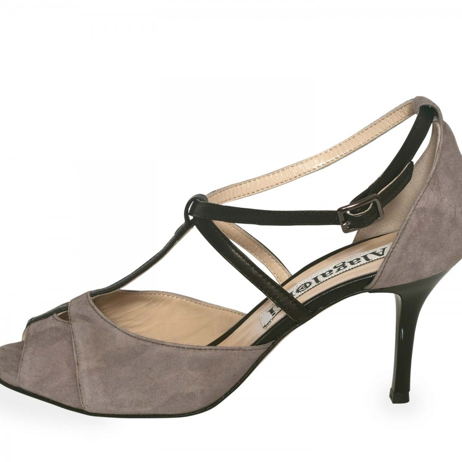 Diez Mink and Black Nappa Leather
