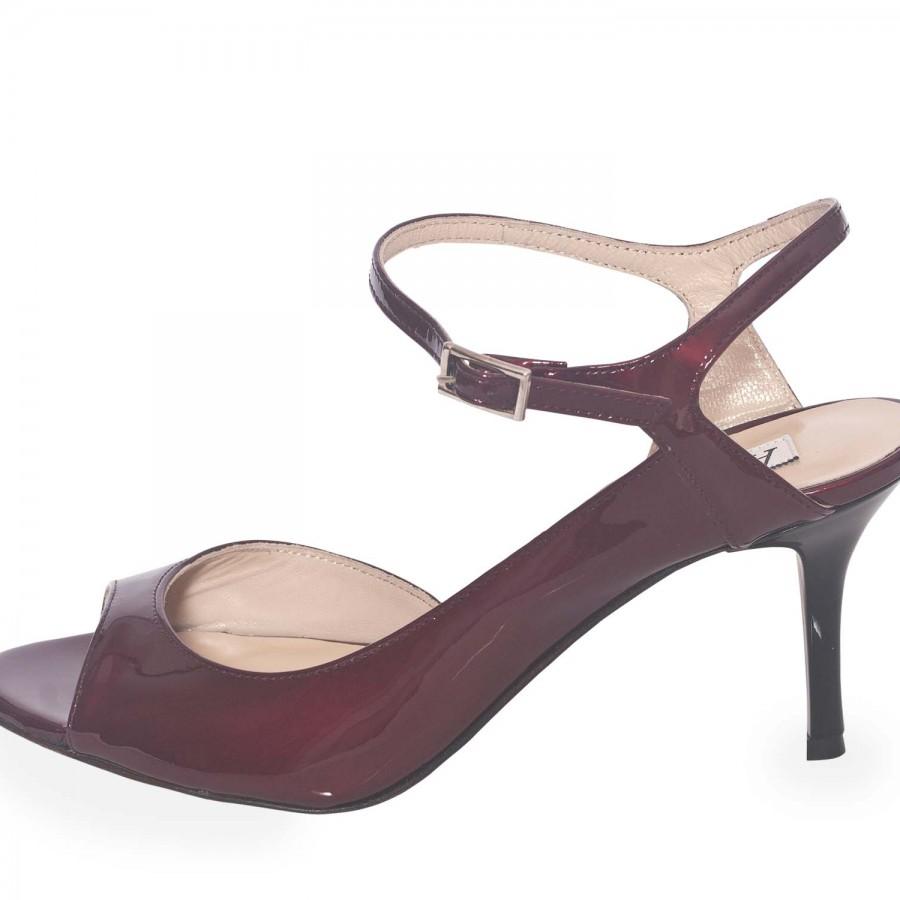 Luna Bordeaux Pearlescent Patent Leather