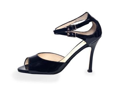 Soho (I) Black Leather Patent Leather