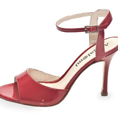 La Maquina Single Strap Red Patent Leather