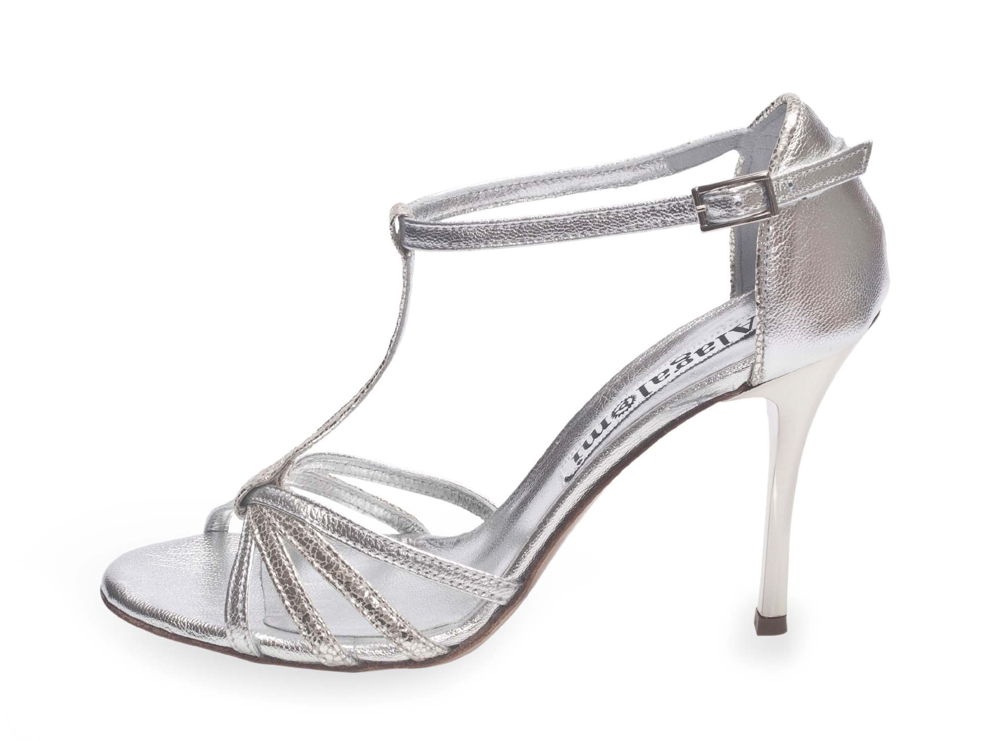 Tango Cool Silver Metallic & Allure Leather