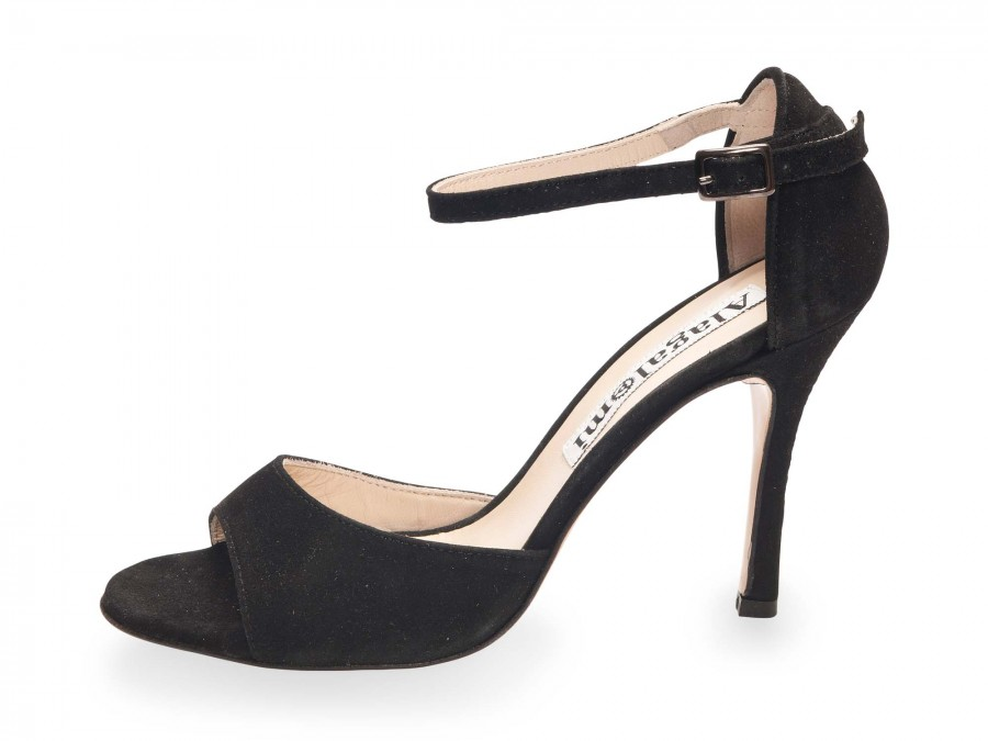 Beso Classic Black Suede Coated Heels