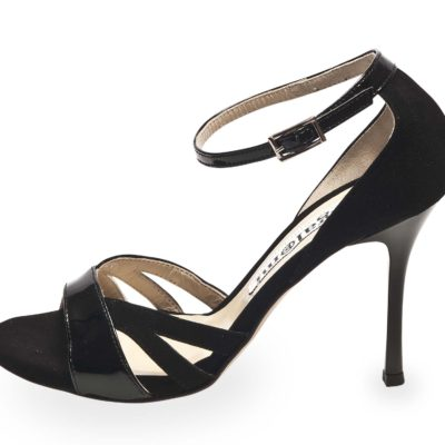 Aura Black Suede and Patent Leather