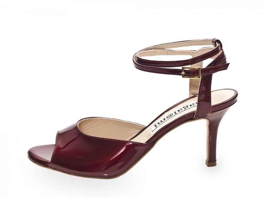 Iris Double Strap Bordeaux Pearlescent Leather