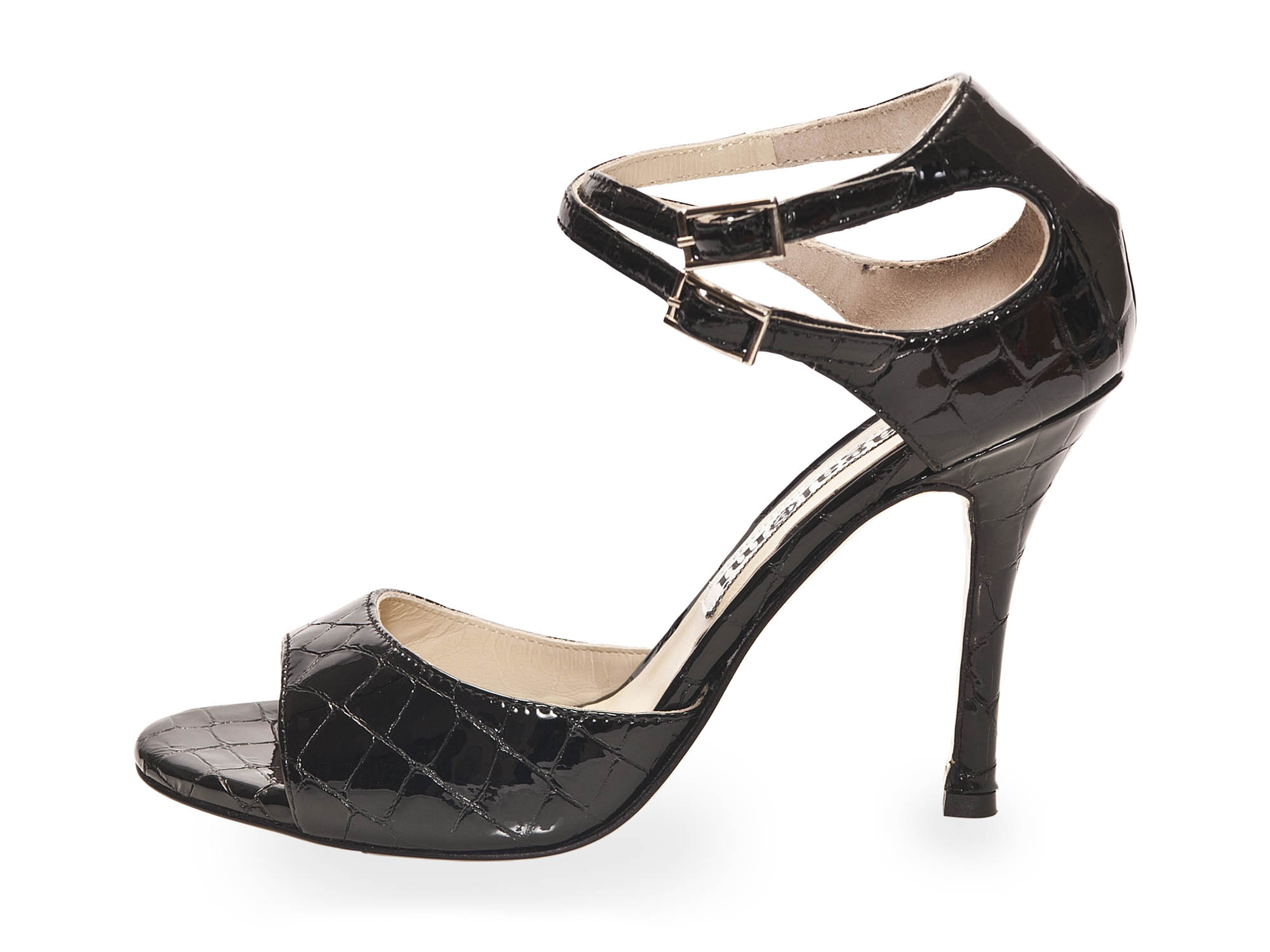 Soho (B) Black Croc Patent Leather