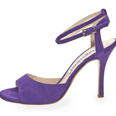 La Maquina double Strap Deep Purple Suede
