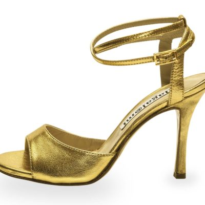 La Maquina Double Strap Gold Metallic Leather