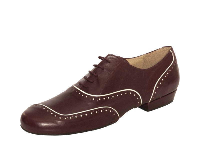 Asimetrico Suede Split Sole in Burgundy Calf Leather