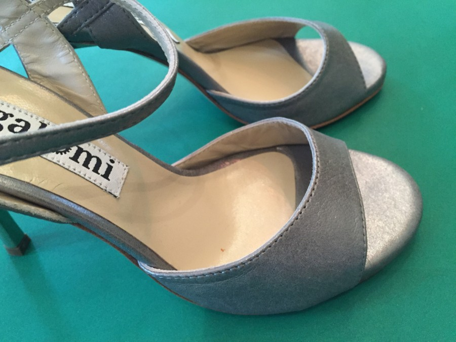 Maia Single Strap Steel/Grey Leather