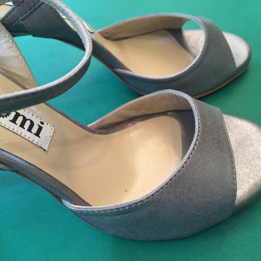 Maia Single Strap Steel/Grey Leather