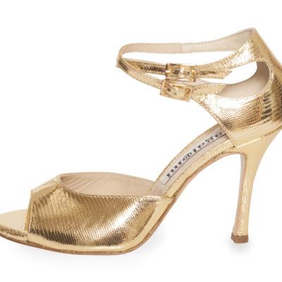 Soho (I upper) Gold Saffiano Leather