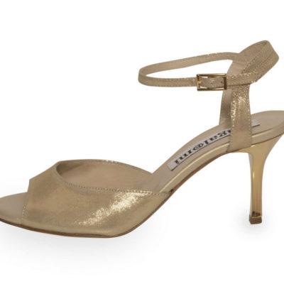 Iris Single Strap Gold Lame Soft Leather