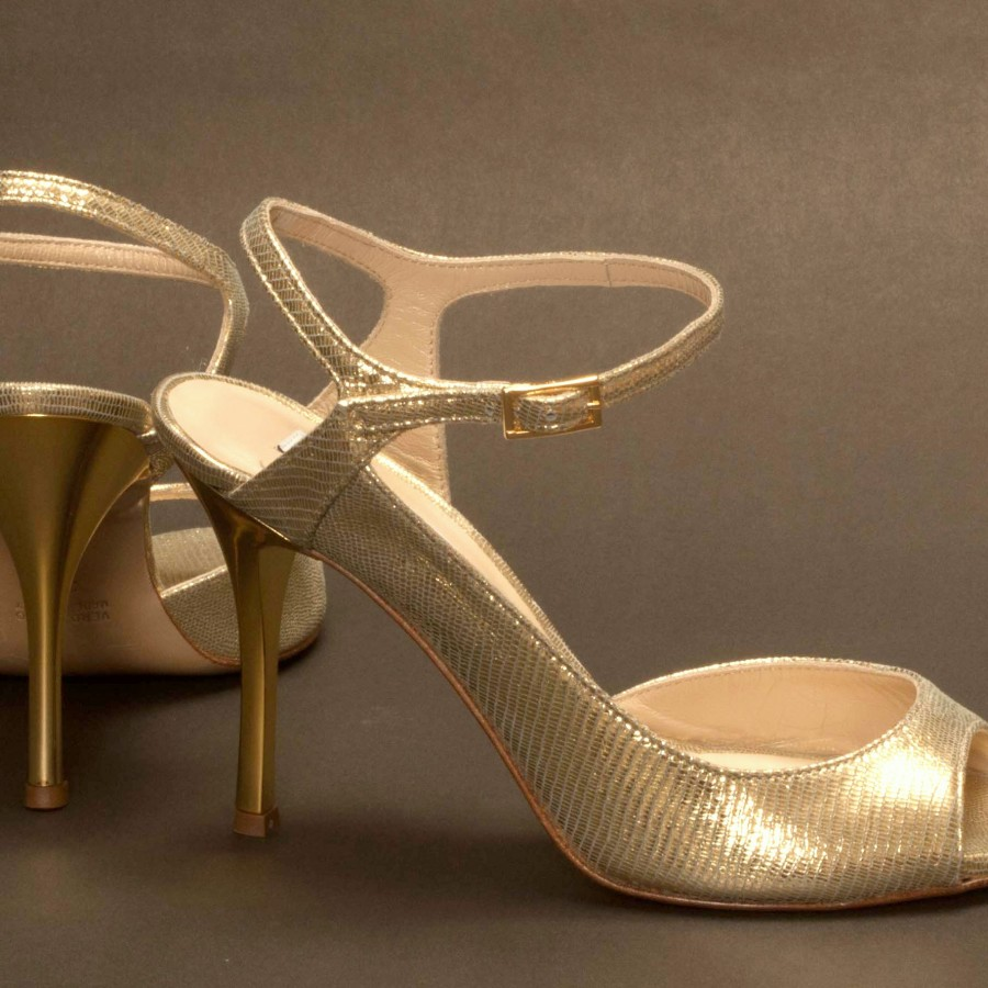 Luna Gold Tejus Print Leather