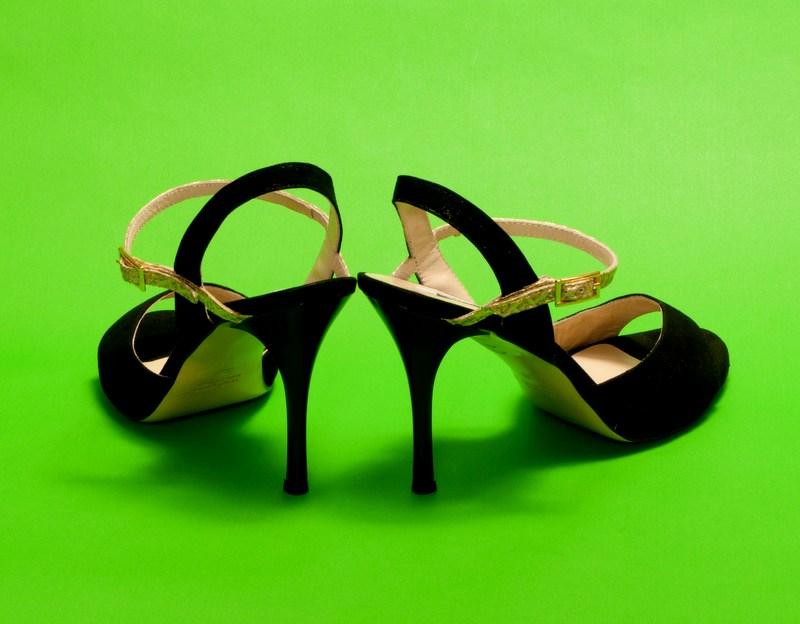 Maia Single Strap Glossy Black & Gold Boa strap Leather