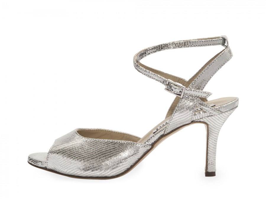 Rosa Double Strap Silver Tejus Leather