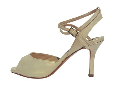 Rosa Double Strap Golden Beige Nappa Leather