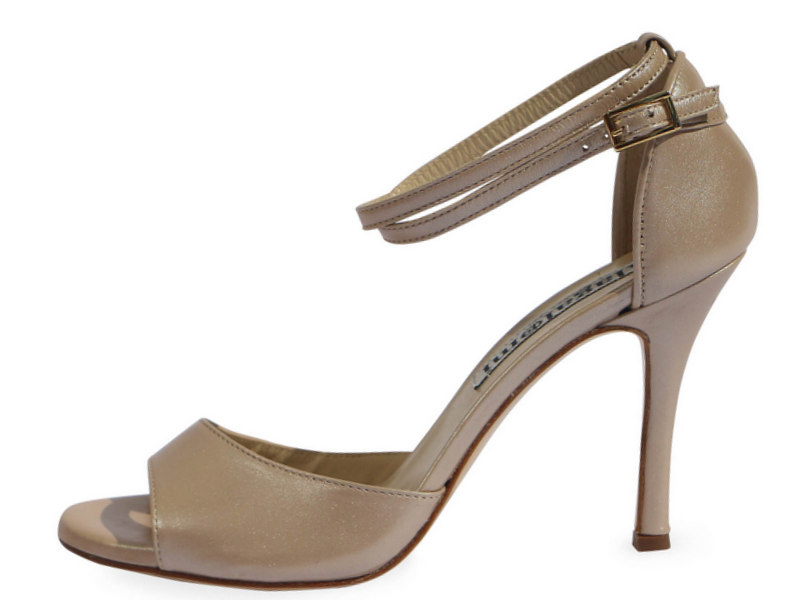 Beso Double Strap Ostrica Beige Nappa Leather