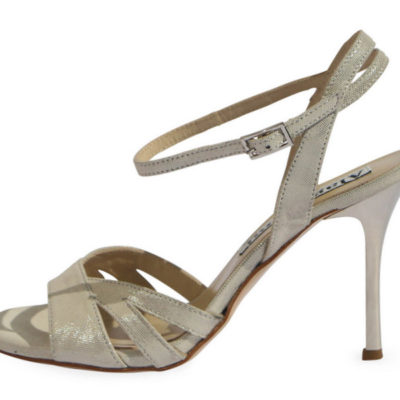 Jasmine Platinum Lame Leather