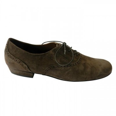 Classico in Chocolate Brown Suede – Split Sole