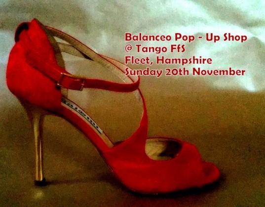 Balanceo Pop – Up shop , Fleet , Sunday 20th November