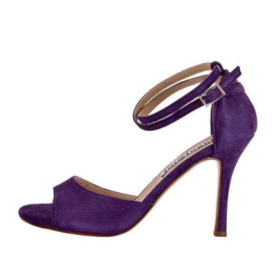 Beso Deep Purple Suede Coated Heels