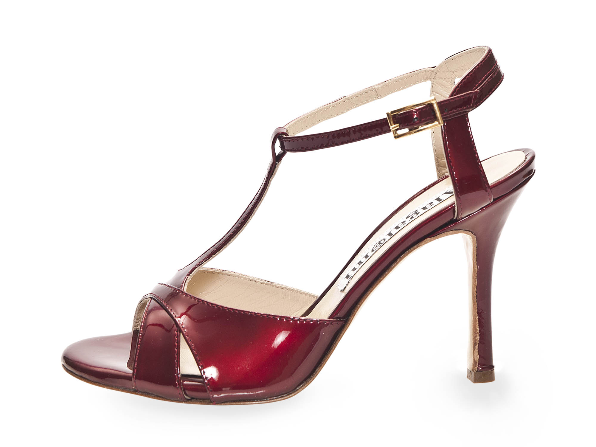 Maleva Pearl Patent Bordeaux Leather