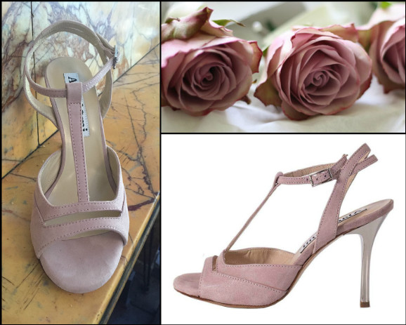 Alma Rose Dust Glossy Leather