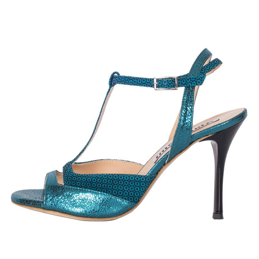 Alma Turquoise Allure and Turquoise  mosaïque Leathers