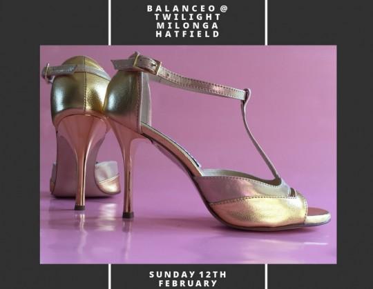 Balanceo Pop – Up Shop@ Twilight Milonga  – Hatfield, Sunday 12th Feb