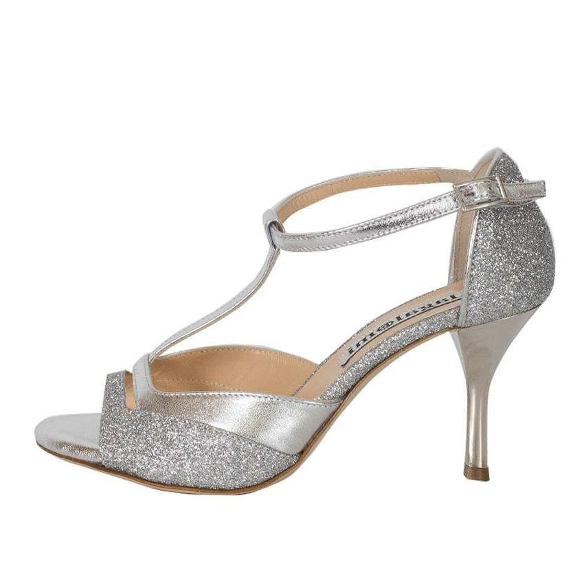 Marlene Silver Glitter and Silver Metallic Combination