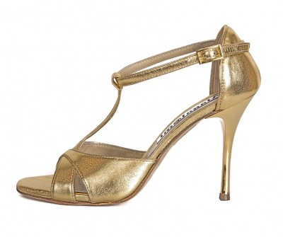 Mariposa Gold Metallic Leather