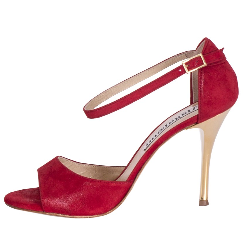 Beso Single Strap Glossy Red soft Leather