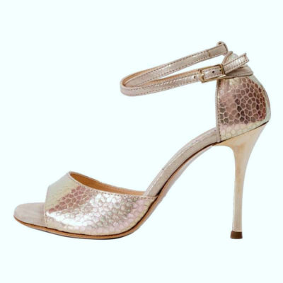 Beso Double Strap Toffee metallic Leather