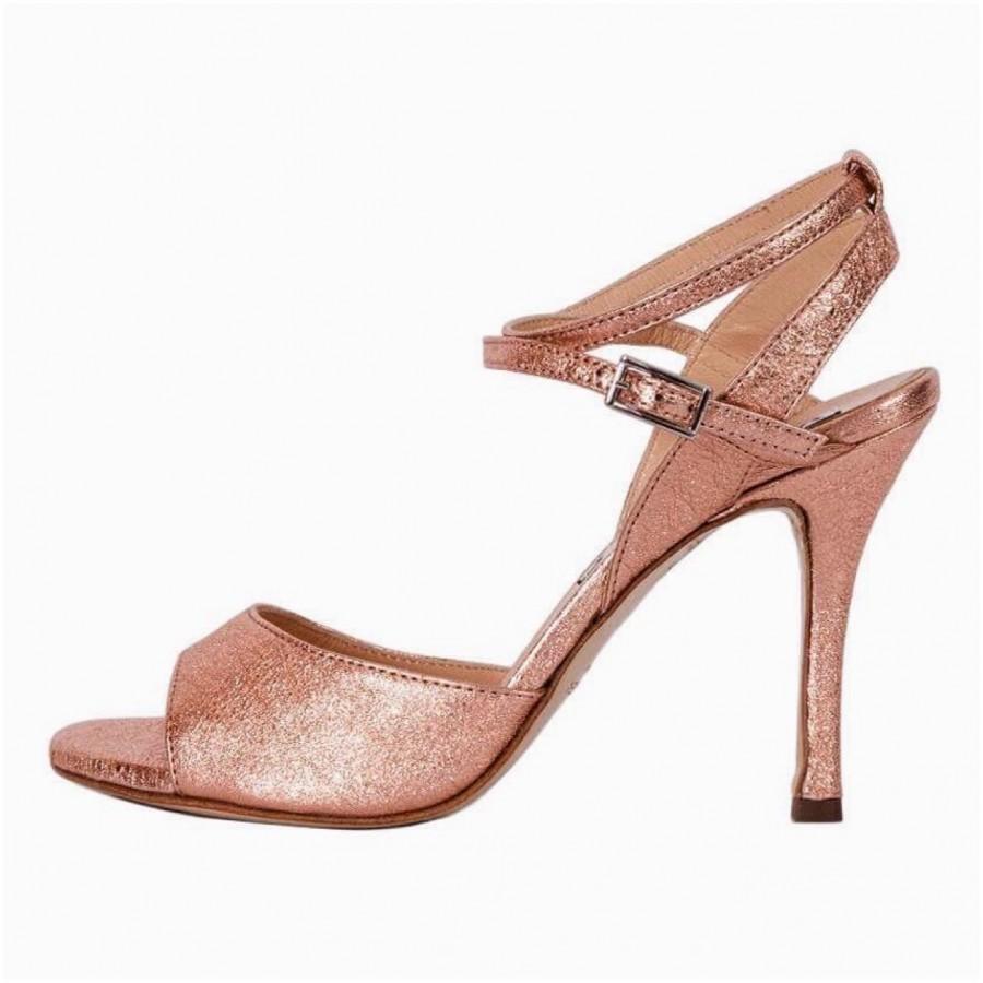 Maia Double Strap Copper Bronze Crac Metallic Leather