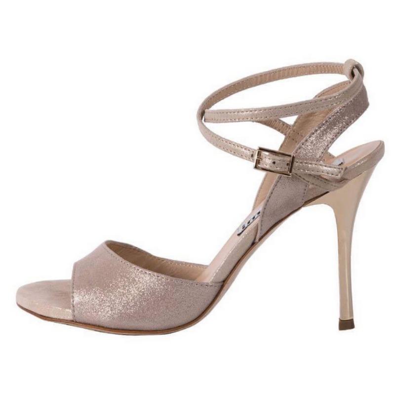 Maia Double Strap Glossy Hazelnut Beige Soft Leather