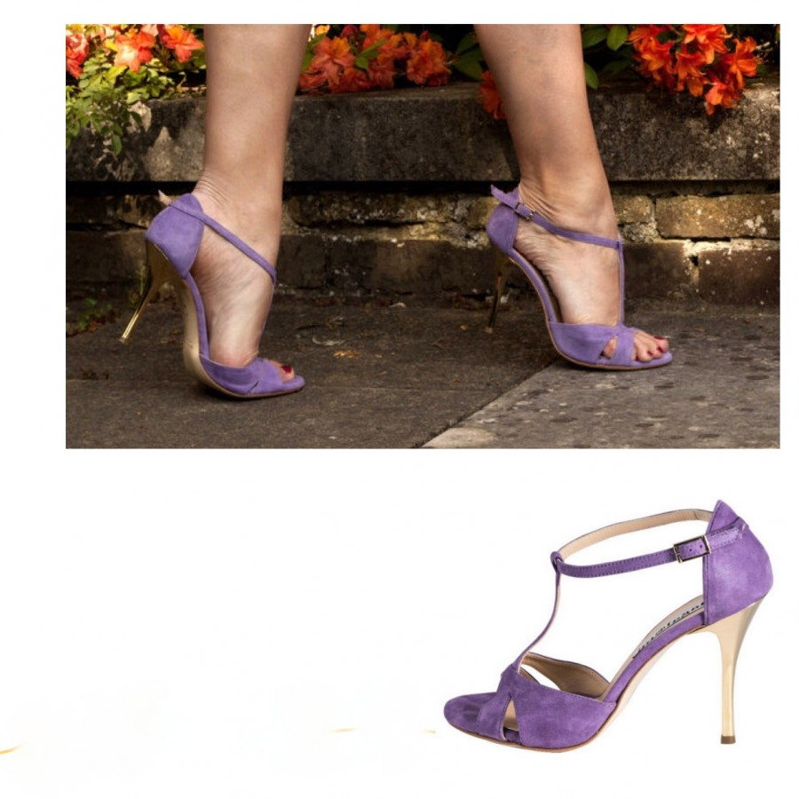 Mariposa Glossy Lavender soft Leather