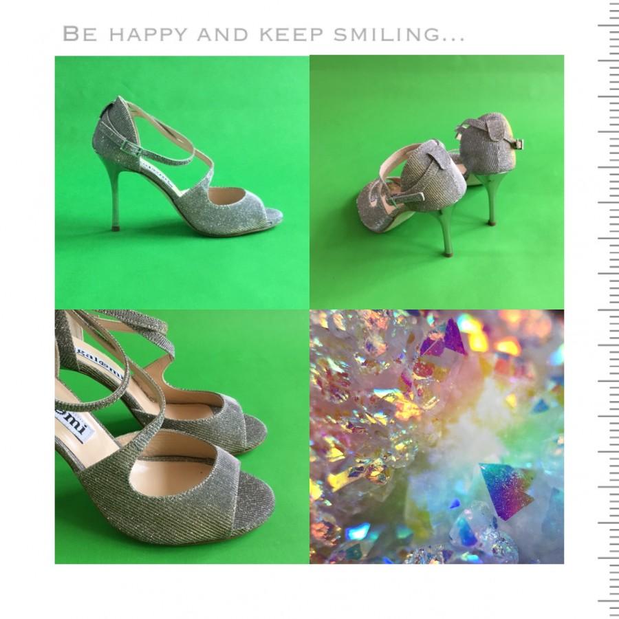 Venus Silvery Lurex silver Heels