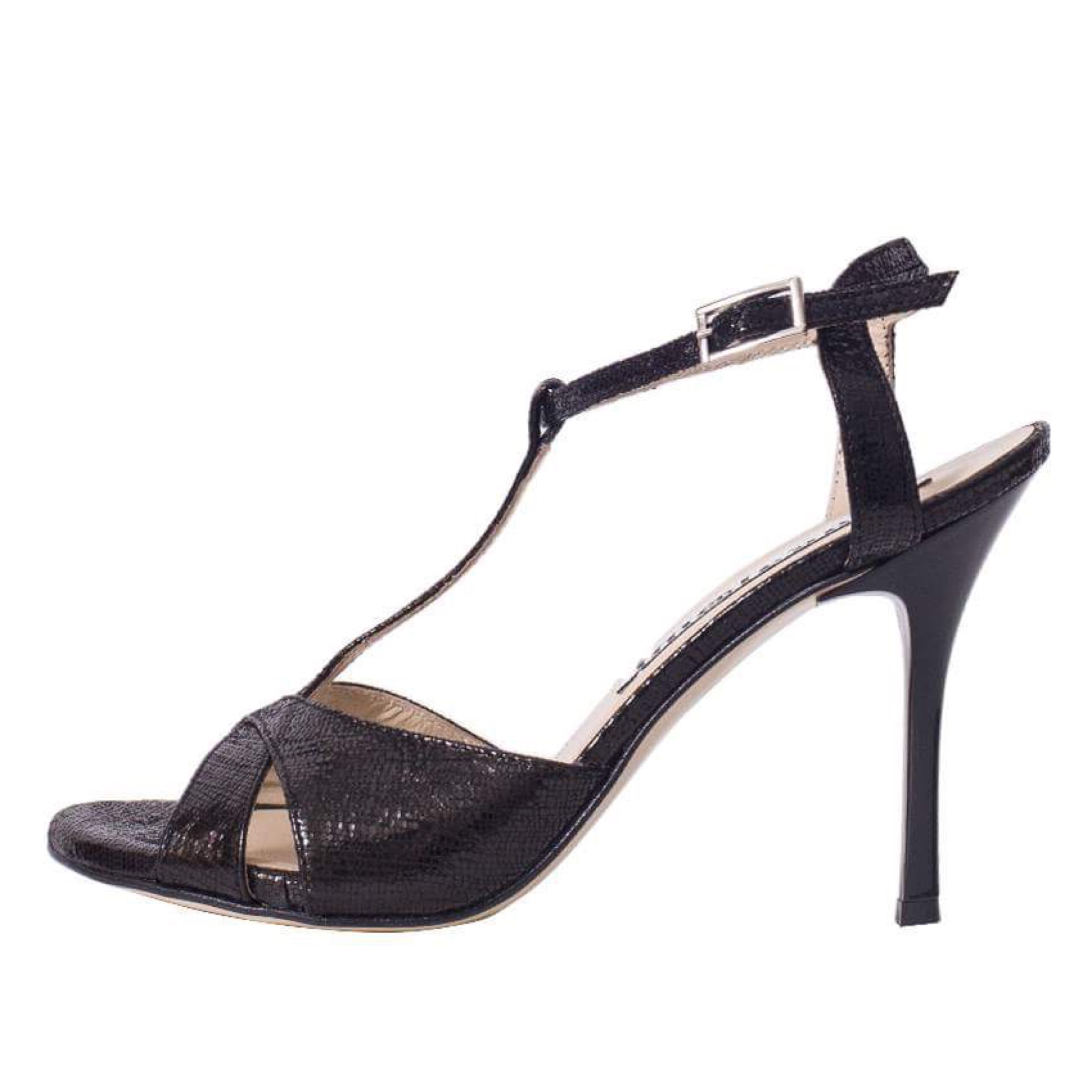 Maleva Black Brasd Leather