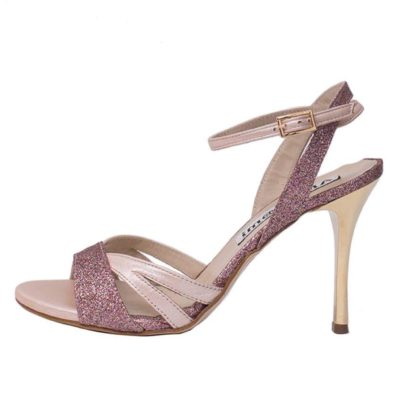 Jasmine Pearl Nappa and Pink Party Multi Glitter Combination