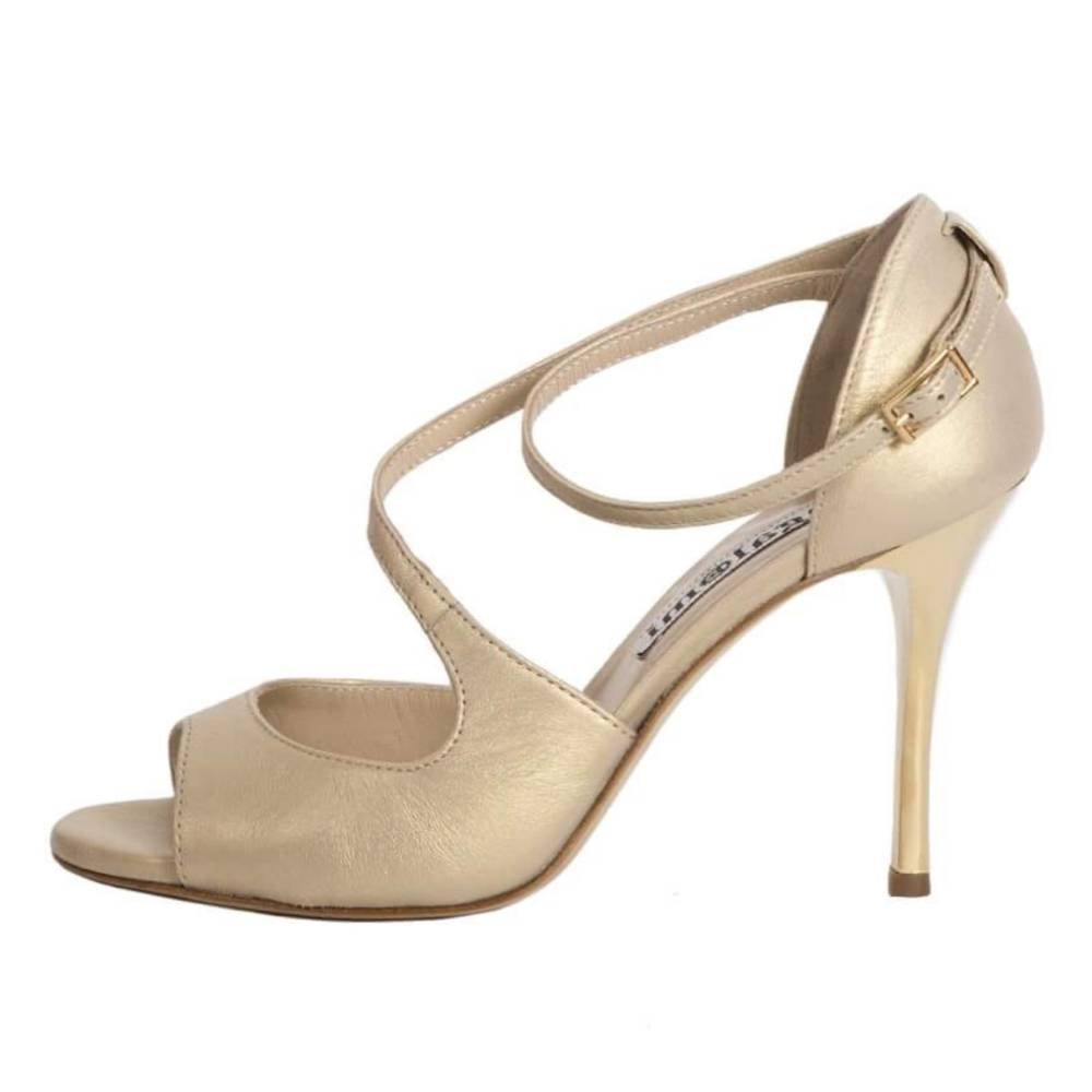 Venus Golden Beige Pearlescent Nappa Leather