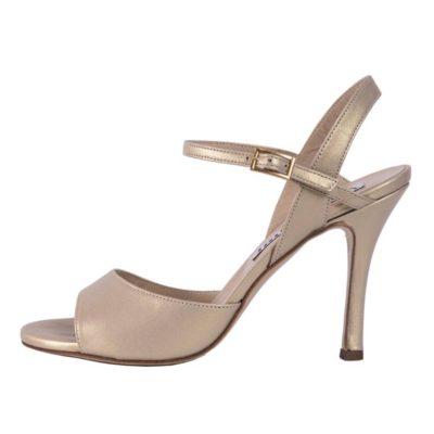 Maia Single Strap Platinum pearlescent Nappa Leather