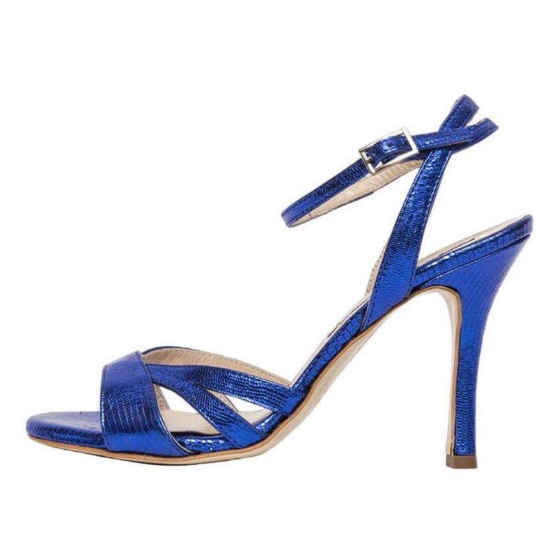 Jasmine Deep Blue Tejus Metallic Leather