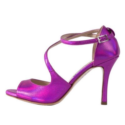 Venus Metallic Magenta Leather