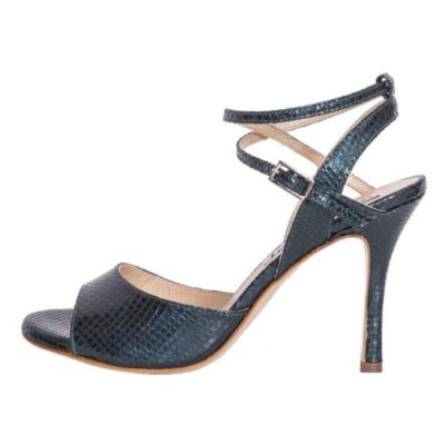 Maia Double Strap Deep Teal Viper Leather