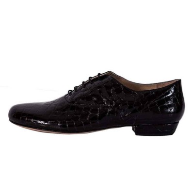 Classico Black Croc Patent Leather