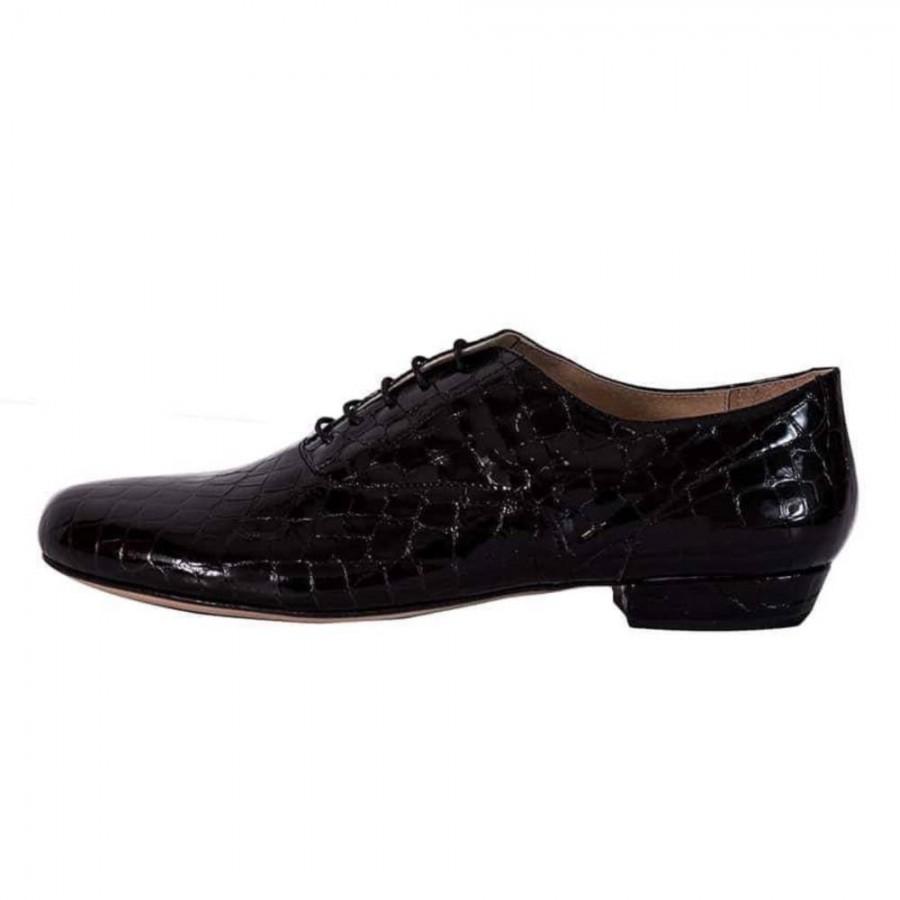 Classico Black Croc Patent Leather